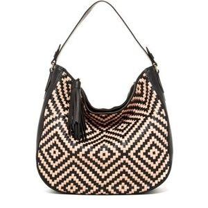 Cole Haan Skylar Woven Vachetta Bag *